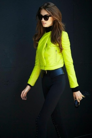 neon and leather