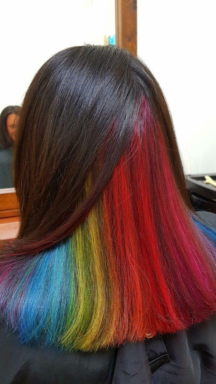 Hidden rainbow hair 💙💚💛💜