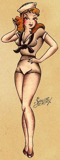 sailor Jerry pin up girl that I'm getting tattooed on my body before I die
