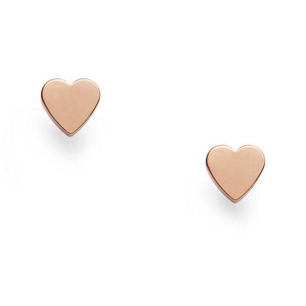 Isn't it romantic? Our polished rose gold-tone studs fulfill your heart's desire for charming accessories.