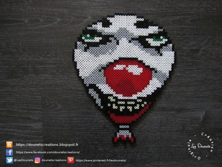 Ça 1990 Grippe-sou le Clown Perles Hama / It 1990 Pennywise Perler Beads