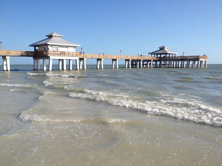 Fort Myers Beach Pier In Fl