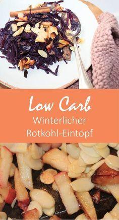 Ein bisschen Farbe auf dem Teller? Gern! Weihnachtlich wird es mit diesem Low Carb - Rotkohl-Eintopf. Für die LCHF-Ernährung genauso geeignet wie für die ketogene, außerdem ist der Eintopf glutenfrei und ohne Laktose! Hol Dir das Rezept als kostenlosen Download auf dem Blog www.volle-kanne-gesund.de