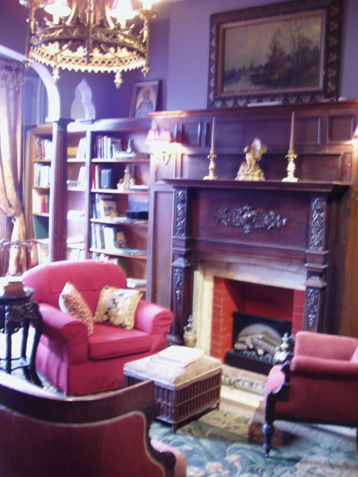 gothic library room, can you have one in your tiny home?