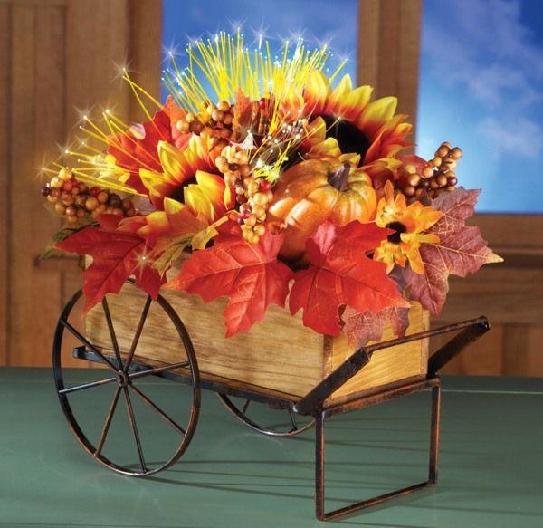 Feuilles d'automne en décoration