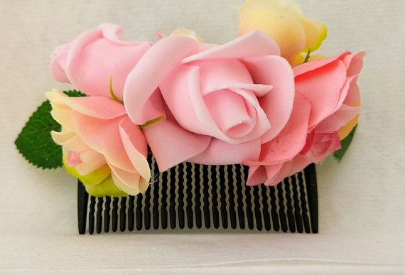 Hey, I found this really awesome Etsy listing at https://www.etsy.com/il-en/listing/530199661/flower-comb-pink-flower-comb-bride-comb
