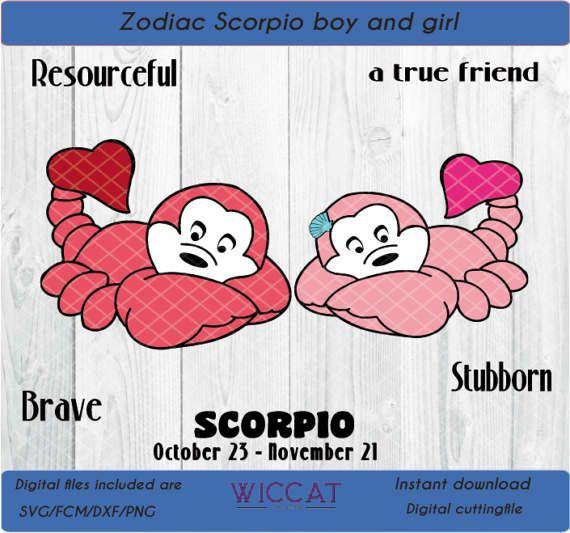 Scorpioen svg sterrenbeeld svg Baby schorpioen  door WiccatDesign