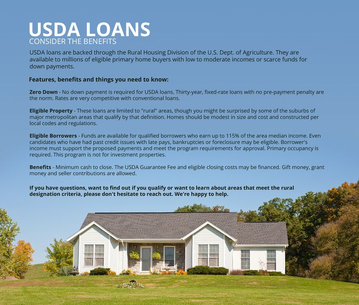 USDA loan- 100% financing