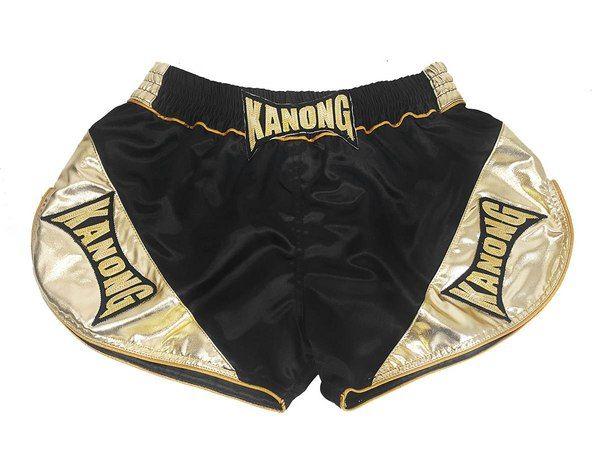 Kanong Retro Muay Thai shorts - Thaiboxhosen : KNSRTO-201-Schwarz-Gold http://www.muaythaiboxen.com/Kanong-Retro-Muay-Thai-shorts-Thaiboxhosen-KNSRTO-201-Schwarz-Gold.html