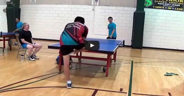 Como humilhar seu adversário no tênis de mesa