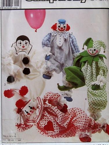 Clown Pattern http://www.ebay.com/itm/Vtg-80s-stuffed-decorative-clown-doll-Harlequin-pattern-/170610452975