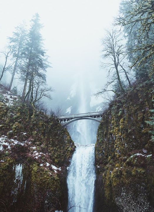 A very foggy Multnomah Falls, Oregon [OC][1515x2080] by billinate ( - https://blog.clairepeetz.com/a-very-foggy-multnomah-falls-oregon-oc1515x2080-by-billinate/