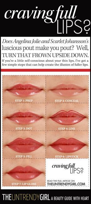 Does Angelina Jolie and Scarlet Johansson's luscious pout make you pout? Well, turn that frown upside down. If you're a little self-conscious about your thin lips, I've got a few simple steps that can help create the illusion of fuller lips.