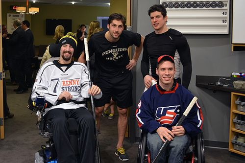 Borts and Sid with Kevin Kenny and US paralympian Dan McCoy. Love those two