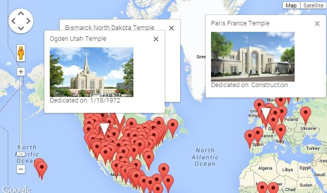 See all 143 Temples Mapped Out #lds #temples #mormon