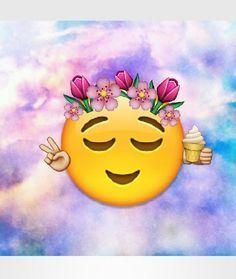 emoji, flowers, and tumblr image
