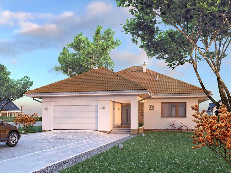 Ariel 6 (128,52 m2) to nowa wersja projektu Ariel z 30 stopniowym dachem. Pełna prezentacja projektu jest dostępna na stronie: https://www.domywstylu.pl/projekt-domu-ariel_6.php. #ariel, #domy, #projekty, #gotowe, #parterowe, #architektura, #design, #architecture