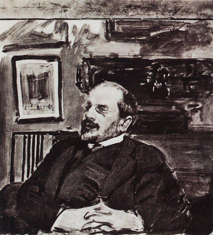 Борис Кустодиев. Александр Бенуа. 1911