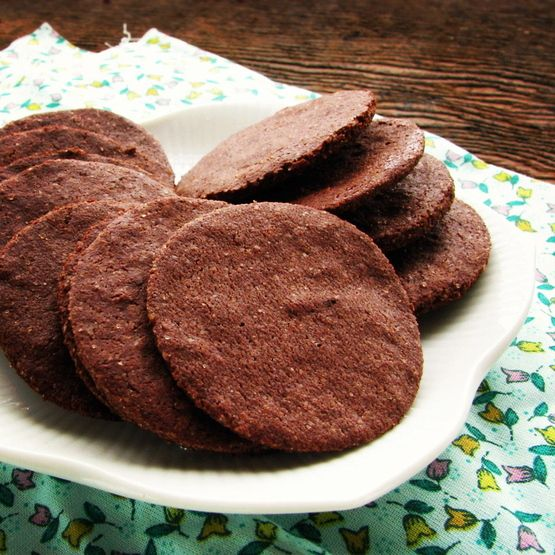 Easy Chocolate Wafers (Grain/Gluten/Dairy/Egg/Soy Free)