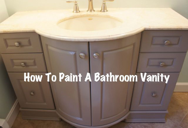 Home with baxter painted bathroom vanity reveal and for Waynesboro taupe benjamin moore