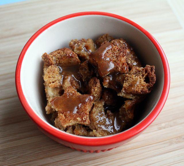 Salted Caramel Banana Bread Puddings Recipe — Dishmaps