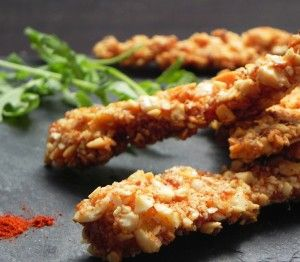 Almond Crusted Chicken Tenders with Paprika
