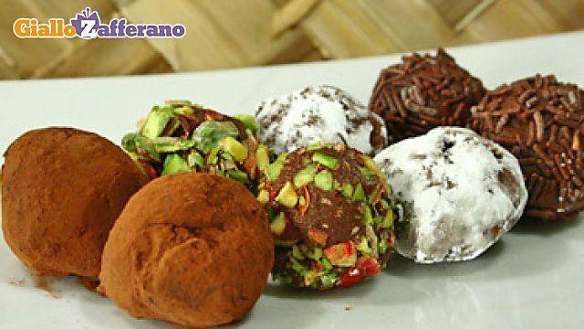 Chocolate truffles! Tartufi di cioccolato!