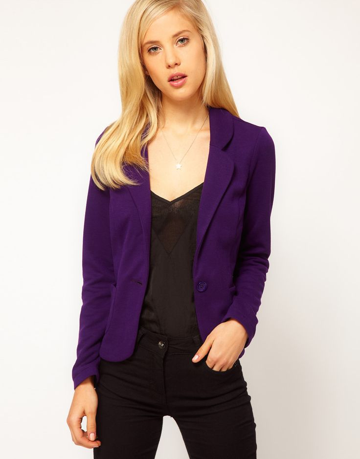 Collection Purple Blazer For Women Pictures - Reikian
