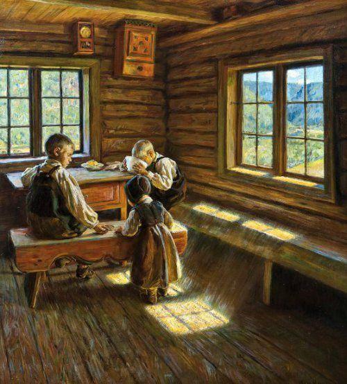 Asor Hansen (1862 – 1929), Interior at Setesdal