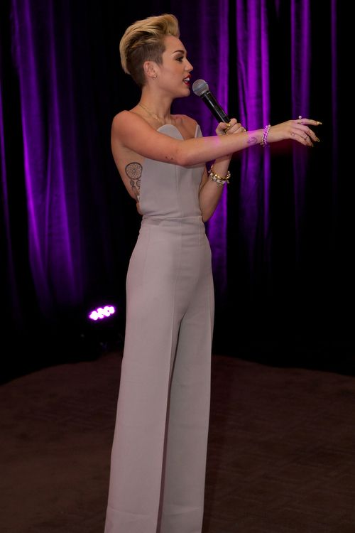 not a fan of miley but love the jumpsuit