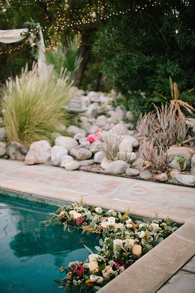 13 Breathtaking Ways to Dress Up a Pool for a Wedding via Brit + Co                                                                                                                                                                                 More