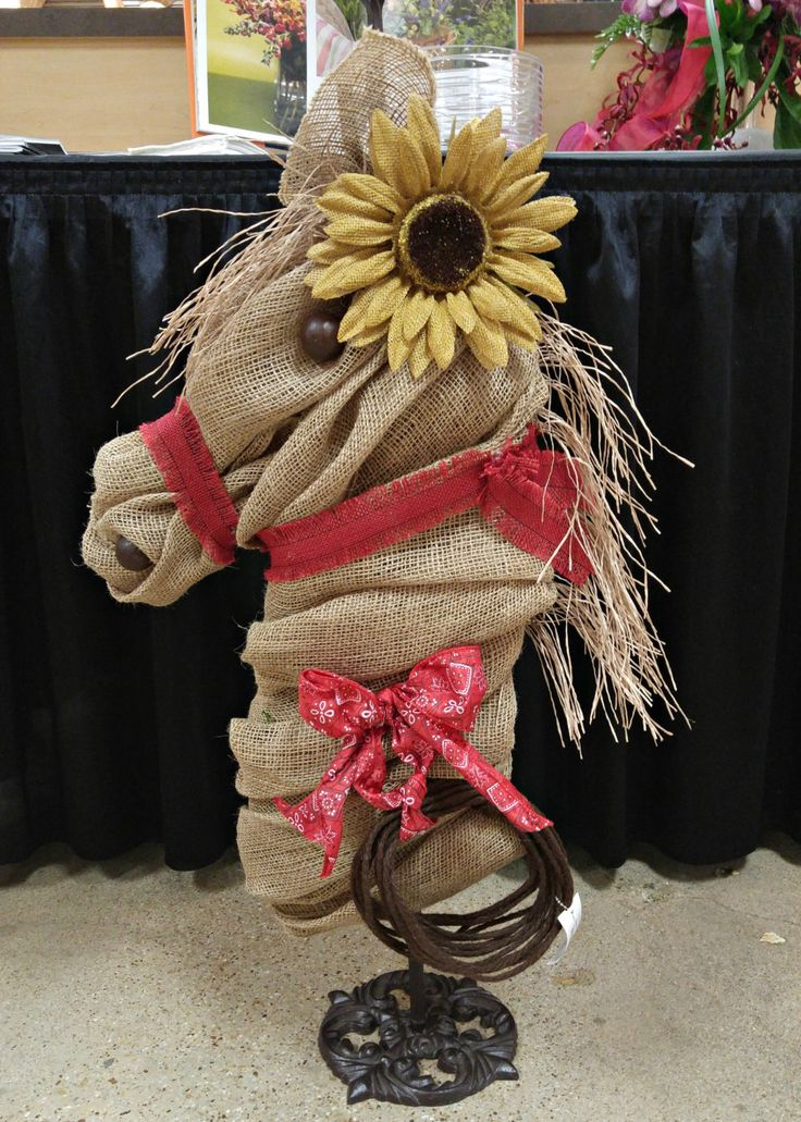 Burlap Wreath, Sunflower Wreath, Sunflower, Horse Wreath, Rustic Burlap Wreath, Country Western by ClaudiasCuteCouture on Etsy