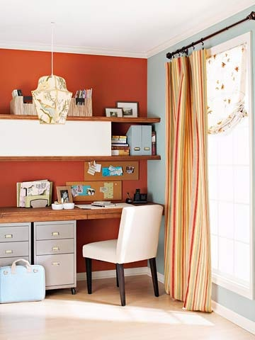 25 best ideas about burnt orange curtains on pinterest - Burnt orange feature wall living room ...
