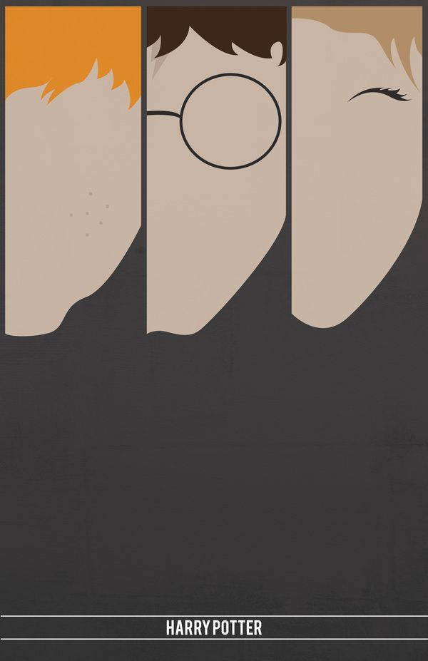 Minimalist Harry Potter Poster by Sara Barney #harrypotter