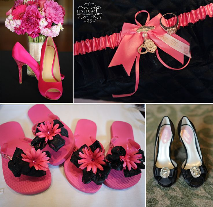 Pink And Black Wedding Decorations
