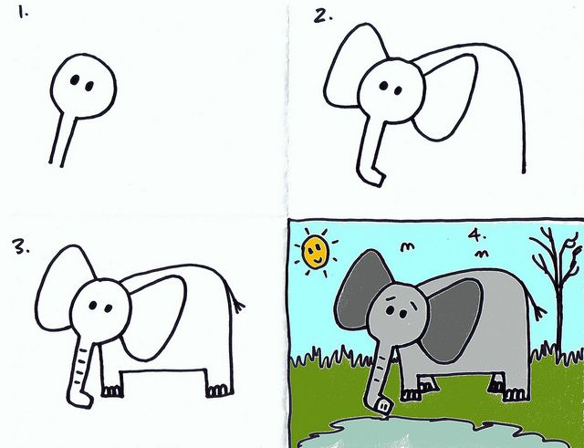 1000 ideas about simple elephant drawing on pinterest bird sketch cute drawings and elephant. Black Bedroom Furniture Sets. Home Design Ideas