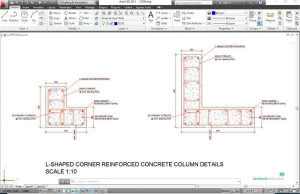 Reinforced Concrete Inverted Upstand Beam Slab Support Details