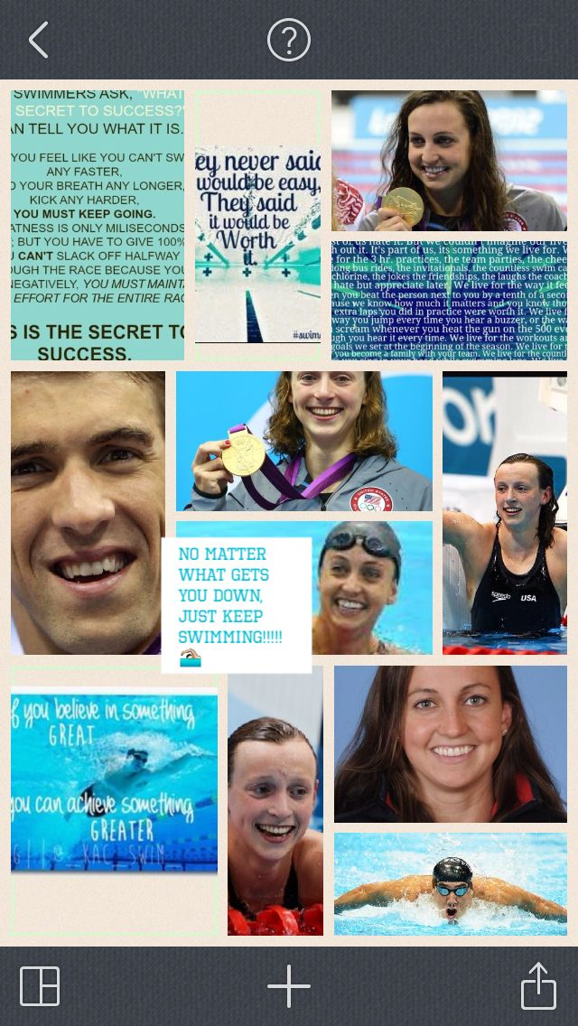 Being a huge competitive swimmer myself, I made this pic college and there are pics of my three fave swimmers, Rebecca Soni, Katie Ledecky, and Michael Phelps. I am so excited cause in December me and my family and my friend and his family all get to go to the European vs American swim meet!!! (Now after going to duel in the pool, Ryan Lochte is so awesome!)