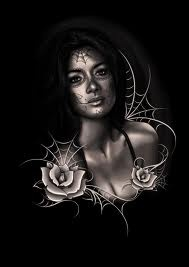 Beautiful, Roses, Black & White: Work, Dead Art, Dead Faces Art Make, Day Of The Dead, Tattoo, Sugar Skulls, Medium, Day Of The Dead