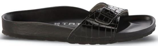 Zdravotní obuv Tatami Premium Madrid Croco / kůže, černá. VÍCE OBUVI NA: http://www.zdravotni-obuv-birkenstock.cz/zdravotni-obuv-damska/otevrene