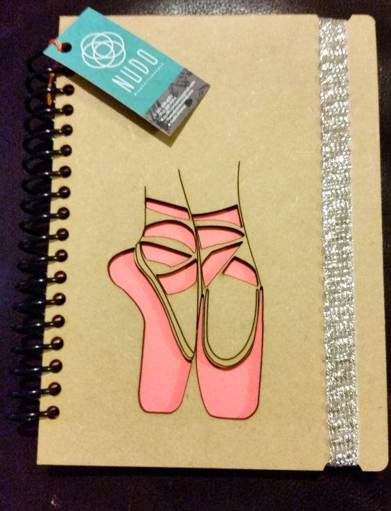 Zapatos de ballet bailarina notebook danza Recital por NudoDiseno