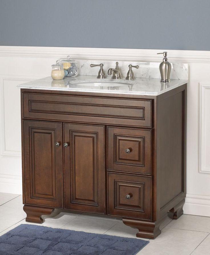 Hawthorne 36-inch W Vanity in Dark Walnut Finish