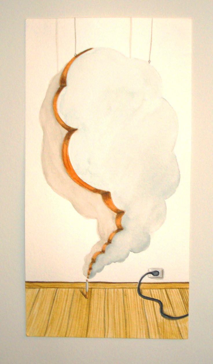 Humo Falso (2014) Acuarela sobre papel  (29x15cm)