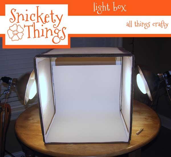 Snickety Things: DIY light box