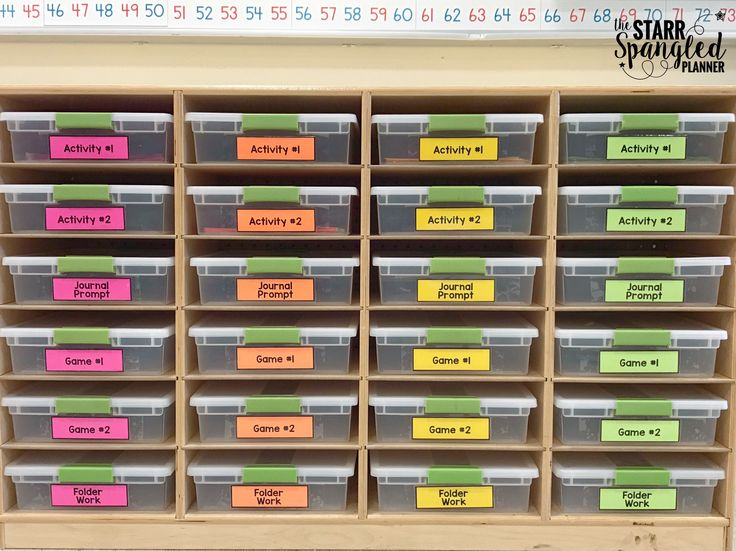 Staying organized is the #1 way I have found to save time!  Finding the right systems can take time, but once you have it, say hello to all of the hours you didn't know you had!  Below is the math area of my classroom.  Today, I'm going to break down 10 of my favorite math center organization tips that really work! One way that I