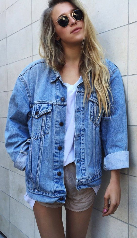 22 best oversized boyfriend jeans jacket images on