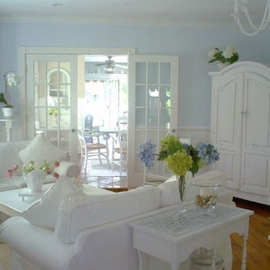 Ideas para decorar tu salon sala y dormitorio en azul - Salones estilo shabby chic ...