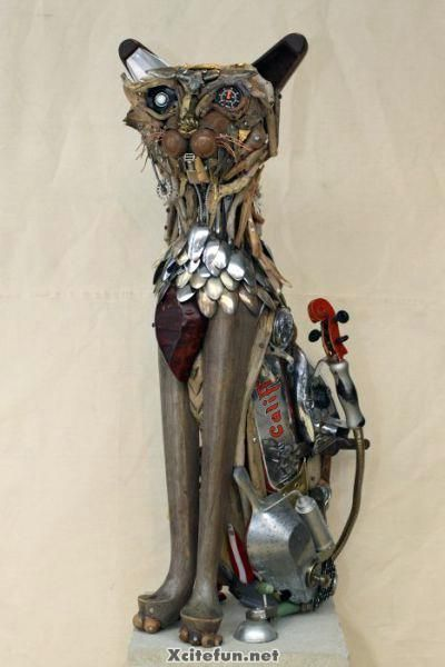 Recycled Metal Sculptures Junk Art http://www.luckygroup.com/