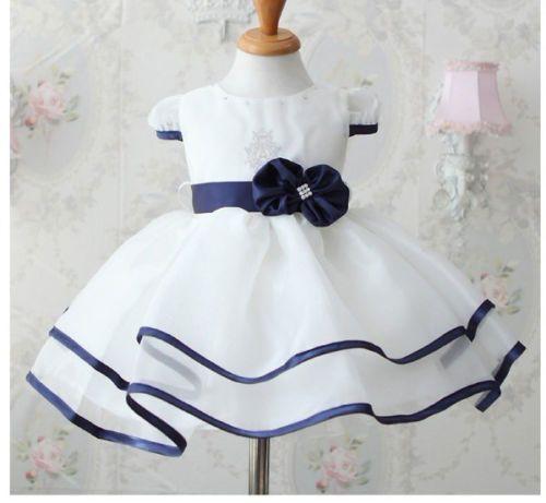 Barato Bebê meninas princesa vestido de festa Formal vestido vestido com cinto…
