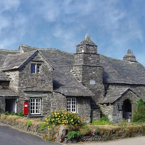14th century Tintagel Post Office, Cornwall.  You can go inside; has been kept in its original state.